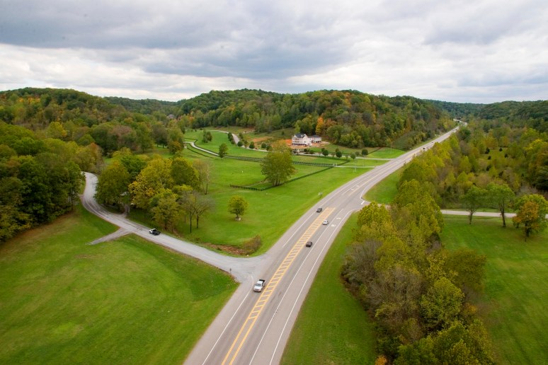 A view from Natchez Trace Parkway bridge. Photo by. Raj H.