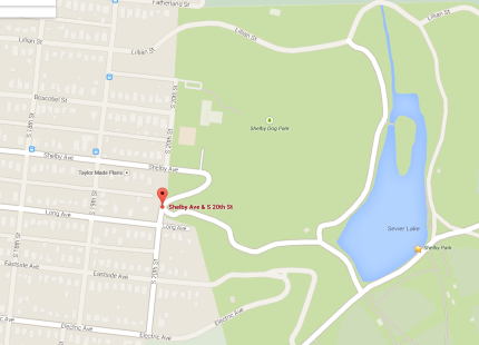 Shelby Park, google map.